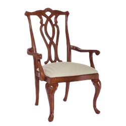American Drew Cherry Grove Pierced Back Arm Dining Chair