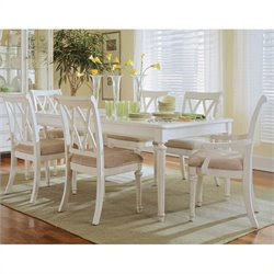 American Drew Camden Leg Casual Dining Table in Buttermilk