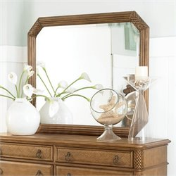 American Drew Grand Isle Landscape Mirror in Amber Finish