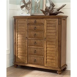American Drew Grand Isle 6 Drawer Dressing Chest in Amber Finish