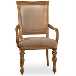 American Drew Grand Isle Arm Dining Chair in Amber Finish