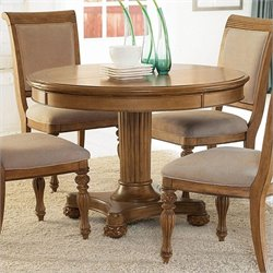 American Drew Grand Isle Round/Oval Dining Table in Amber Finish