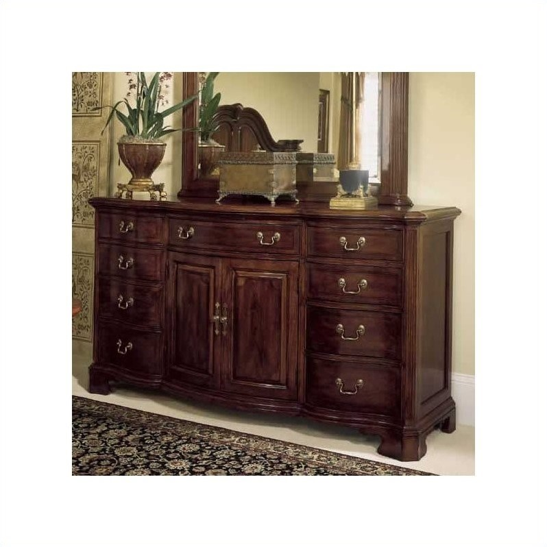 american drew cherry grove 9 drawer triple dresser with