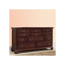 American Drew Cherry Grove 11 Drawers Triple Dresser in Cherry Finish
