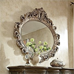 American Drew Jessica McClintock The Boutique Oval Mirror in Silver