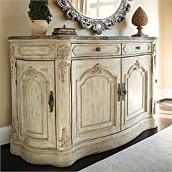 American Drew Jessica McClintock The Boutique Marble Top Buffet in White Veil