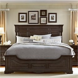 American Drew Manchester Court Wood Panel Bed in Brown