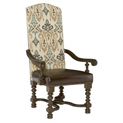 American Drew Casalone Upholstered Arm Chair in Cafe