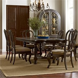 American Drew Casalone Wood Dining Set in Cafe