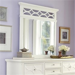 American Drew Lynn Haven Landscape Mirror in White