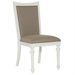 American Drew Lynn Haven Upholstered Side Chair in White