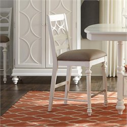 American Drew Lynn Haven Wood Counter Stool in White