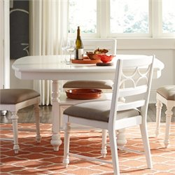 American Drew Lynn Haven Wood Storage Dining Table in White