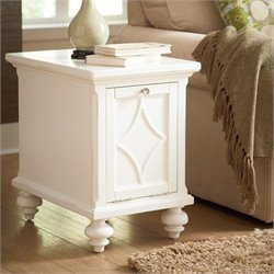 American Drew Lynn Haven Wood Chairside Table in White