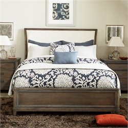 American Drew Park Studio Wood Upholstered Sleigh Bed