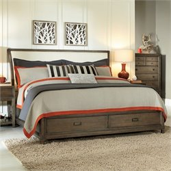 American Drew Park Studio Wood Storage Sleigh Bed