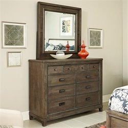 American Drew Park Studio 2 Piece Wood Dresser Set in Taupe