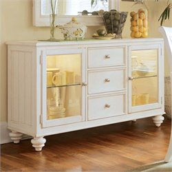 American Drew Camden China Buffet Credenza in Buttermilk