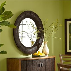 American Drew Grove Point Accent Mirror in Warm Khaki