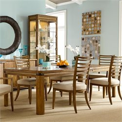 American Drew Grove Point Wood Dining Table in Warm Khaki