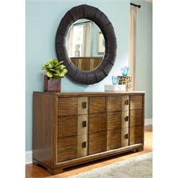 American Drew Grove Point 2 Piece Accent Dresser Set in Warm Khaki