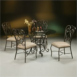 Pastel Furniture Magnolia 5 Piece Metal Patio Dining Set