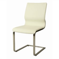 Pastel Furniture Charlize  Dining Chair in Ivory/Wenge Veneer