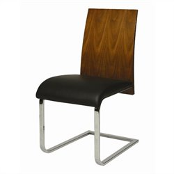 Pastel Furniture Federick  Dining Chair in Walnut & Black