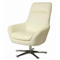 Pastel Furniture Ellejoyce Leather Club Chair in White