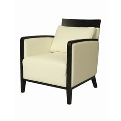 Pastel Furniture Elloise Leather Club Chair in White