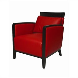 Pastel Furniture Elloise Leather Club Chair in Red
