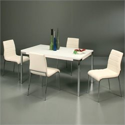 Pastel Furniture Fort James 5 Piece Dinette in White