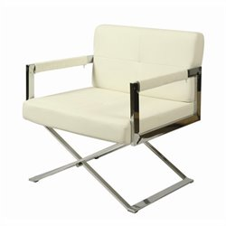 Pastel Furniture Decumani upholstered Arm Chair in Ivory