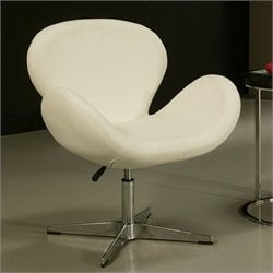 Pastel Furniture Le Parque Egg Chair in Ivory