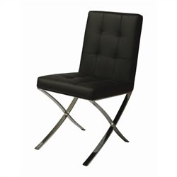 Pastel Furniture Aria  Dining Chair in Pu Black
