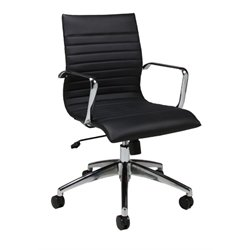 Pastel Furniture Janette Office Chair in Black