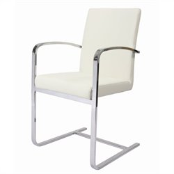 Pastel Furniture Monaco Arm Dining Chair Upholstered in Pu Ivory
