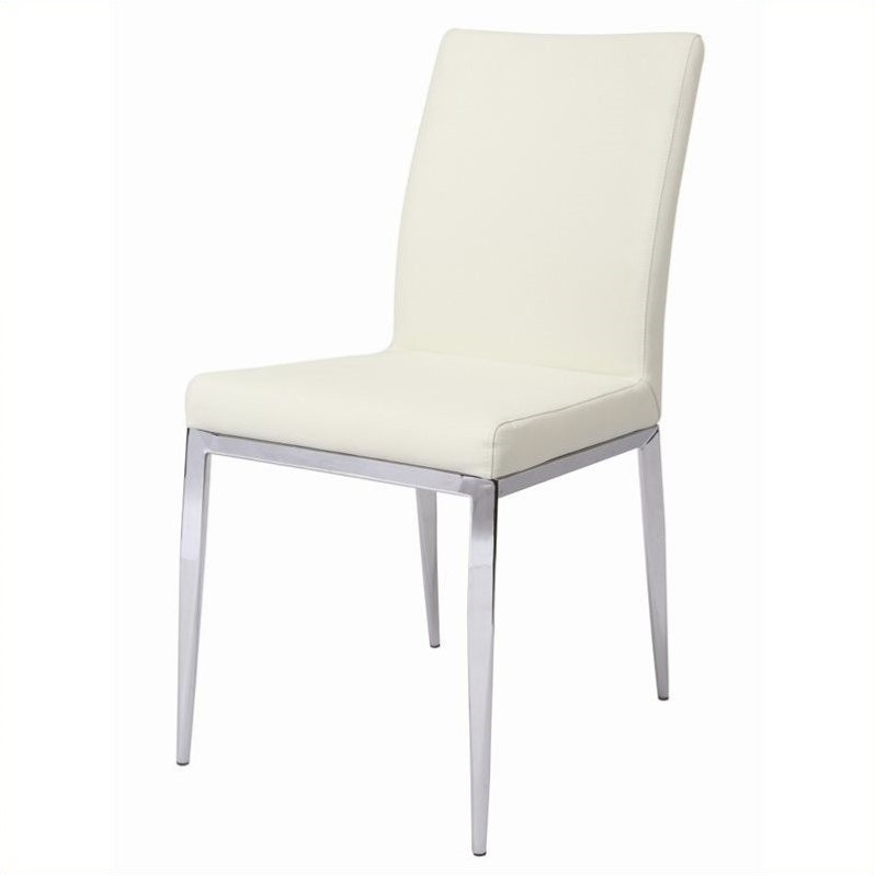 Pastel Furniture Sundance  Dining Chair Upholstered in Pu Ivory