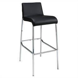 Pastel Furniture Inamoana Bar Stool in Chrome and Black
