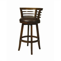 Pastel Furniture Ortona Swivel Bar Stool in Cherry