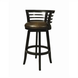 Pastel Furniture Ortona Swivel Bar Stool in Black