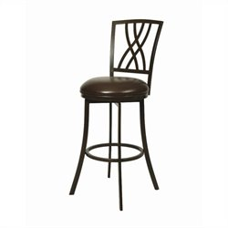 Pastel Furniture Quintet Swivel Bar Stool in Dark Mocha