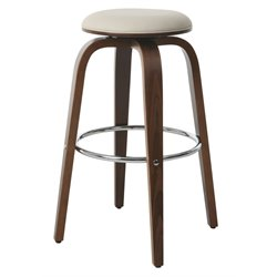 Pastel Furniture Yohkoh Swivel Bar Stool in Ivory