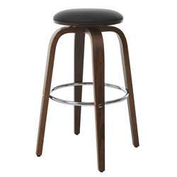 Pastel Furniture Yohkoh Swivel Bar Stool in Black