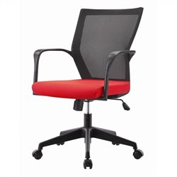 Pastel Furniture Bozano Office Chair in Red