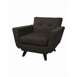 Pastel Furniture Brooklyn Queens Upholstered Club Chair in Gray