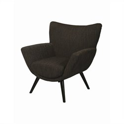 Pastel Furniture Eurozone Upholstered Club Chair in Gray