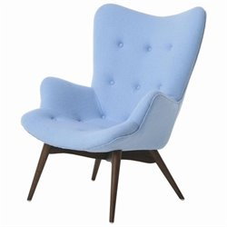 Pastel Furniture Gelsenkirchen Fabric Arm Chair in Blue