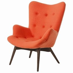 Pastel Furniture Gelsenkirchen Upholstered Club Chair in Orange
