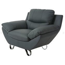 Pastel Furniture Mableton Upholstered Club Chair in Gray